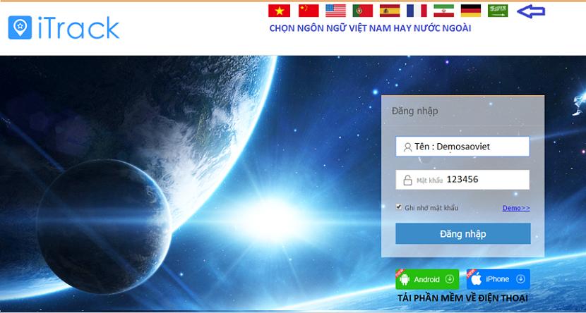 Phần mềm đăng nhập định vị pin 30 ngày