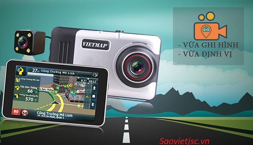 camera hành trình Vietmap A45 kết hợp camera hành trình