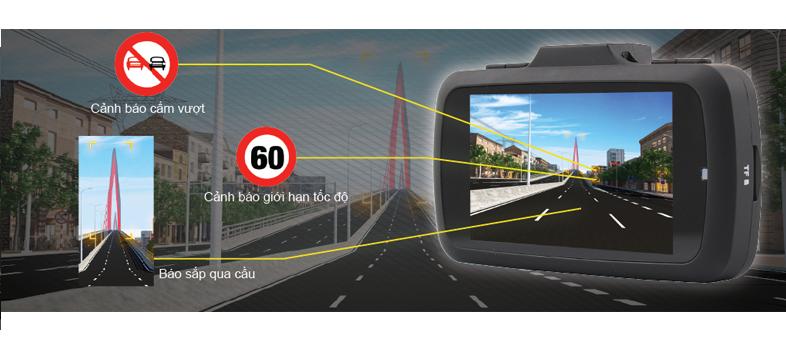 Góc quay của camera hành trình vietmap k9 pro