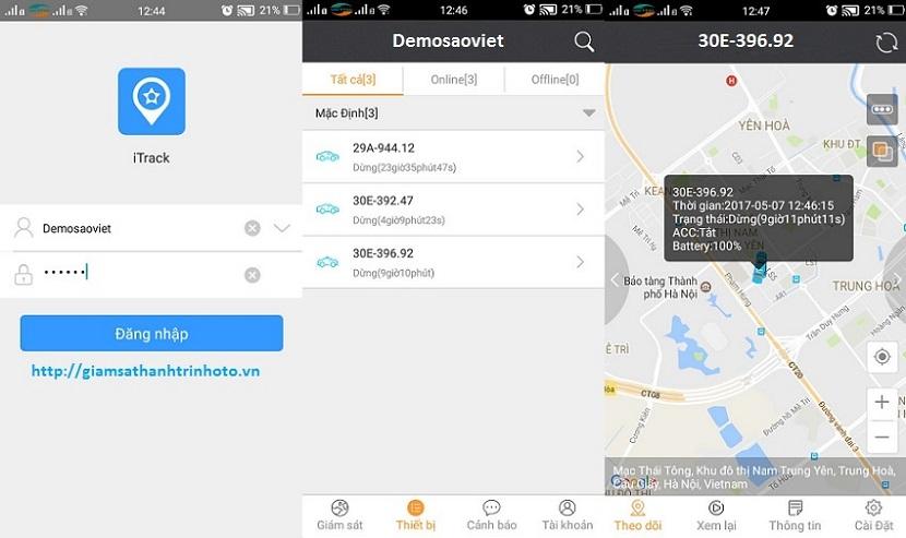 Phần mềm theo dõi ô tô xe máy tiện ích trên điện thoại