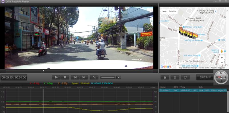 Hình ảnh rõ nét cảu camera hành trình k9-pro-ghi lại