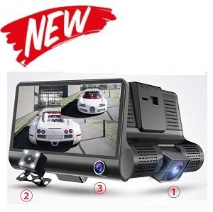 Camera Hành Trình 3 Mắt DVR E-9 Quay Cả Trong Lẫn Ngoài Xe ô Tô