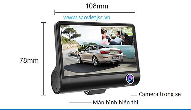 Camera hành trình ba mắt qua cả trong vầ ngoài xe giá rẻ