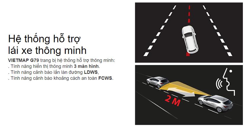 Chức năng đo khoảng cách giữa các xe phía trước