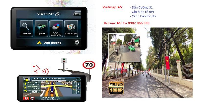camera hành trình ô tô a5 cảnh báo tốc độ ghi hình chỉ đường