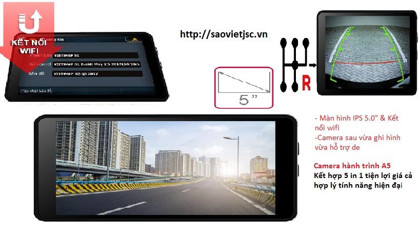 camera hành trình ô tô A50 Kết hơp mọi yếu tố ghi hình dẫn đường cảnh báo
