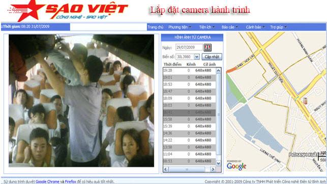 Camera giám sát hành trình trên từng chặng đường
