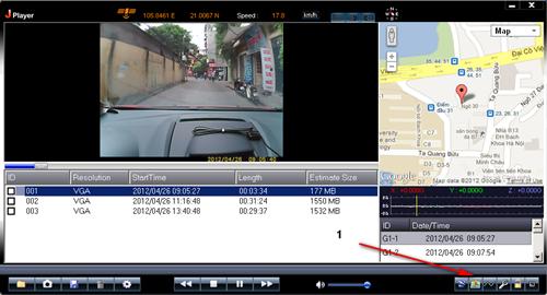 camera hành trình ô tô ghi lại những hình ảnh trên đường đi
