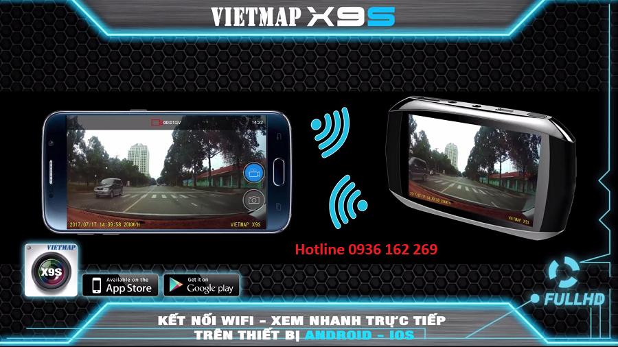 Camera hành trình wifi x9s vietmap