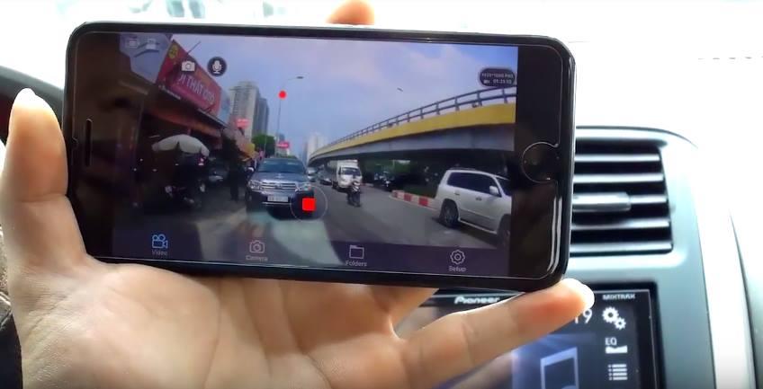 Camera hành trình S600 xem trên điện thoại