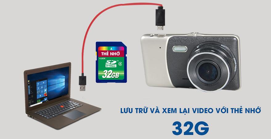 camera-hành trình S400 kết nối với máy tính