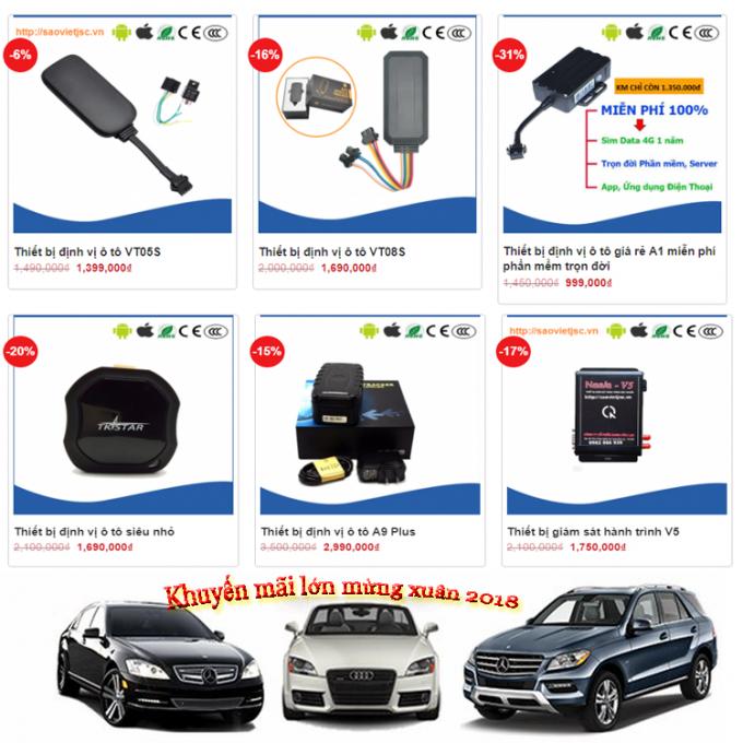 Khuyến mãi lắp định vị ô tô 2018