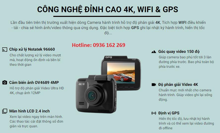 Chi tiết về camera hành trình S600 có wifi