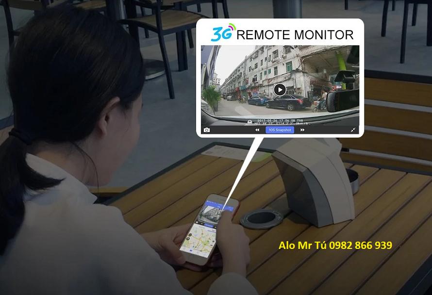 Camera hành trình C09S đặt Taplo Android 4G Xem Online