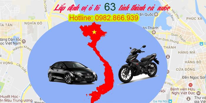 Lắp định vị ô tô 63 tỉnh thành trong cả nước