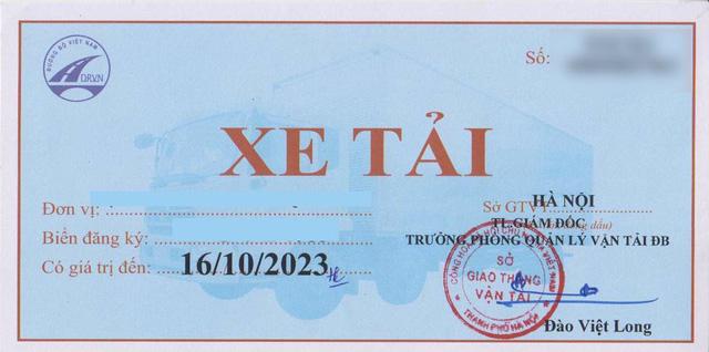 Cấp phù hiệu xe tải tại Thái Nguyên - Làm tem phù hiệu biển 20 TN