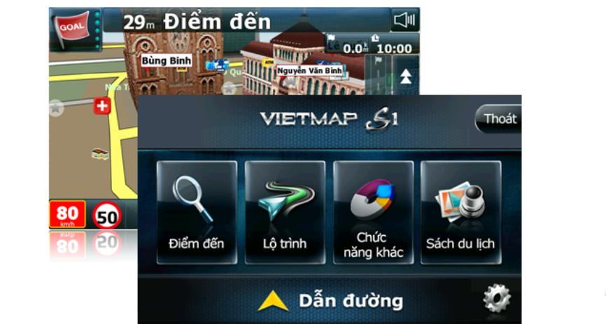 Chức năng dẫn đường của Vietmap iDVR P1