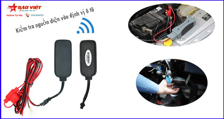 Kiểm tra nguồn điện vào thiết bị định vị ô tô