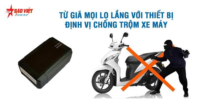 Định vị xe máy giúp chống trộm an toàn bảo vệ xe mọi lúc