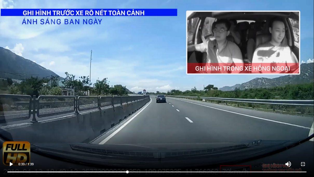 Camera hành trình JC200 ghi hình rõ nét trước và trong xe
