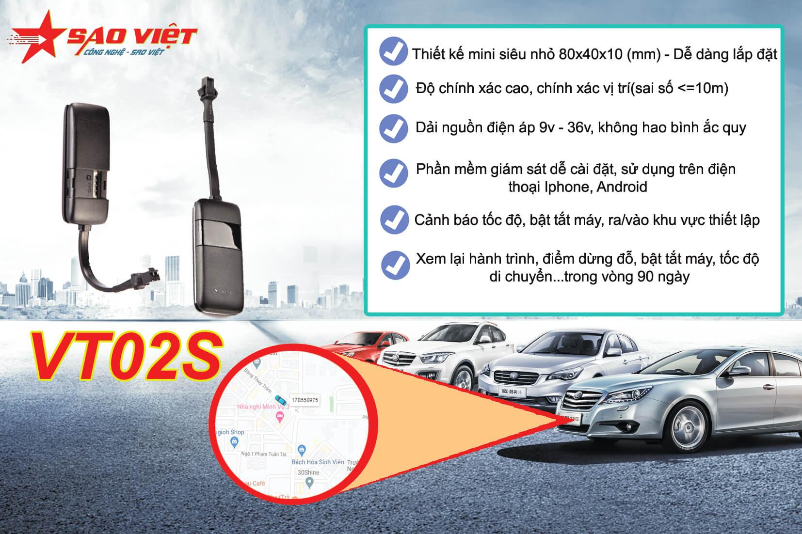 thiết bị định vị ô tô VT02S