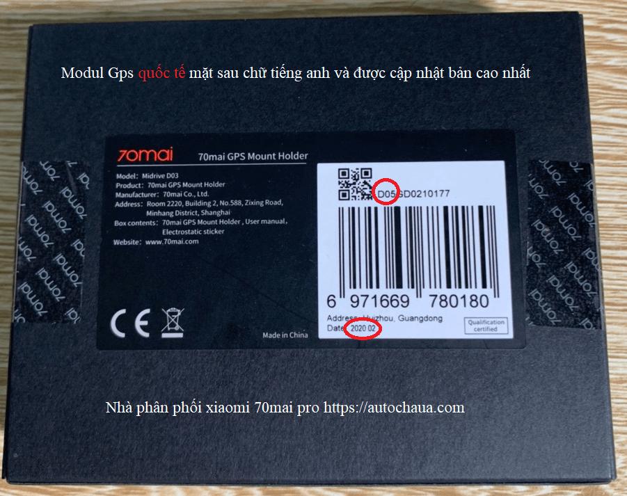 gps module for xiaomi 70mai dash cam pro