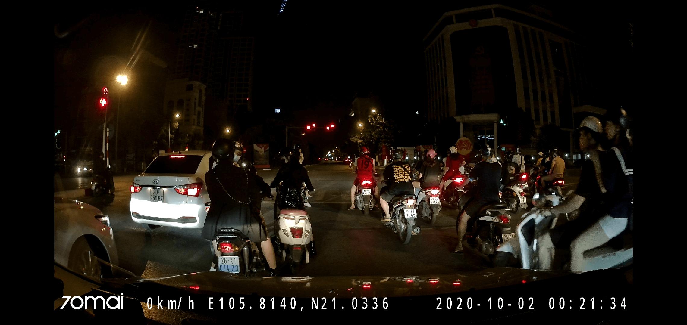 Chất lượng ghi hình ban đêm của 70mai A800