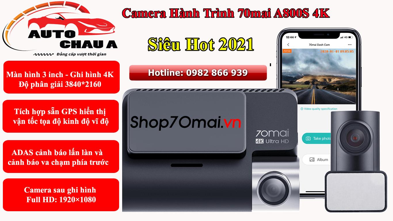camera hanh trinh xiaomi a800s 4k
