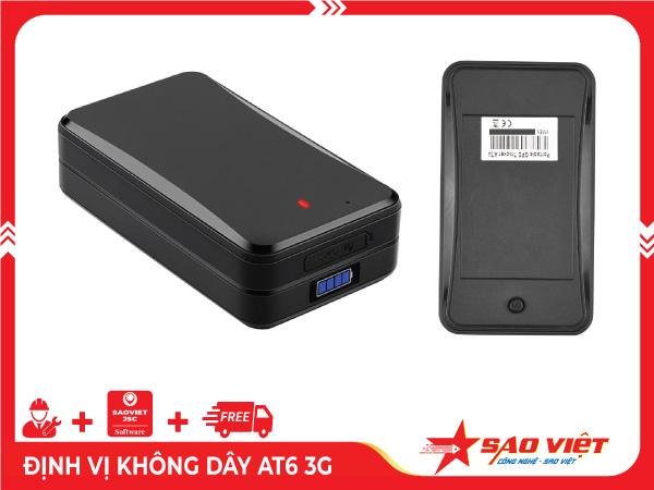 Thiết bị định vị không dây AT6 3G pin 12 tháng cho xe tự lại
