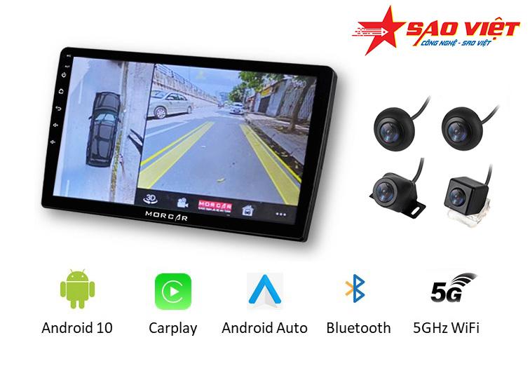 Màn hình android Morcar M7862 tích hợp camera 360