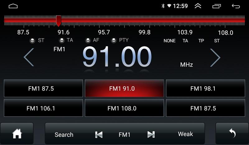 Màn hình android Morcar M7862 tích hợp camera 360 - Nghe radio