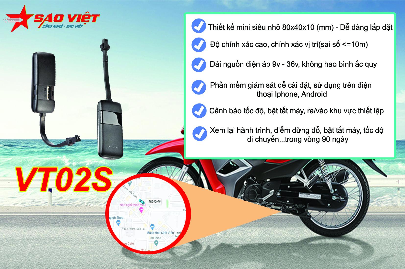 Thiết bị định vị siêu nhỏ giá rẻ VT02S