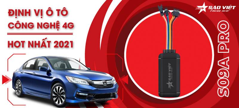 Bộ thiết bị định vị xe ô tô S09A Pro Chip 4G siêu chính xác